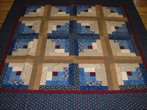 Flannel Log Cabin - a wram and cosy quilt
