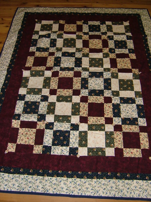 Around the Corner - a flannel quilt that has been made in so many colour combinations