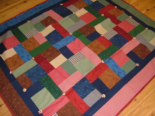 Twisted - this has been one of my most popular flannel throw rugs