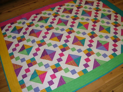 Jewels of the night - a bright happy quilt
